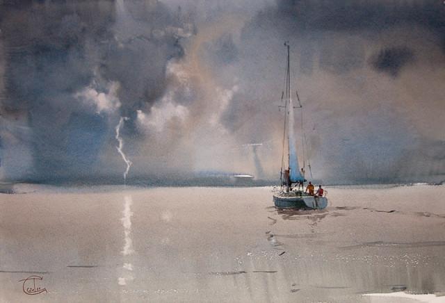 Distant thunder-storm