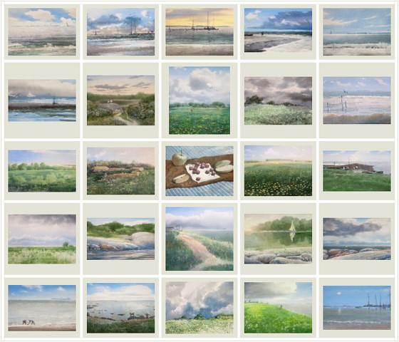 Sergey Temerev. 25 watercolors of April-May-June 2012