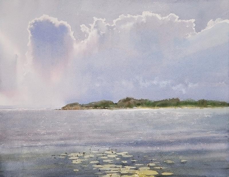 Cloudburst over the bay