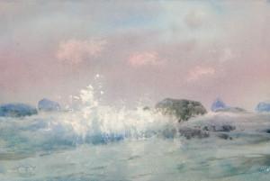 Волны у каменистого берега