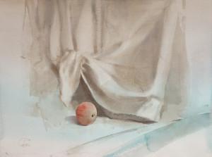 Яблоко с красными прожилками