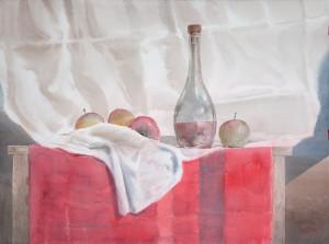 Яблоки и красное вино