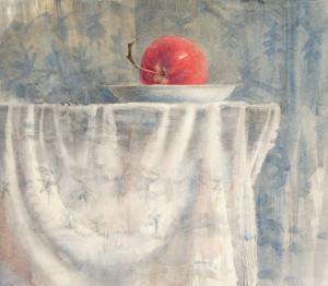 Красное утреннее яблоко