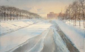 Лед и тени Михайловского сада