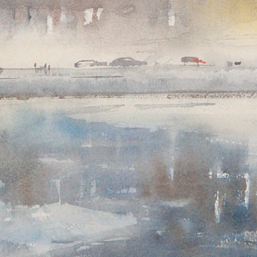 Along the embankment