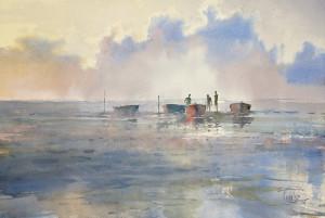 Лодки на отмели