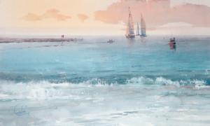Вечер. Тихое море