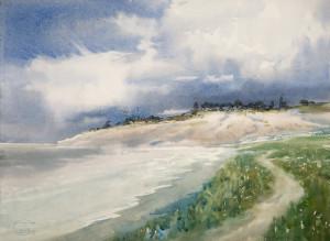 Облака над берегом