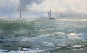 Бег волн, яхт и облаков