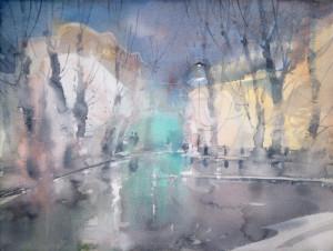 Ноябрьский моросящий дождь