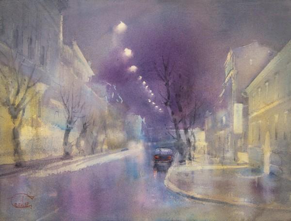 The light of night streets