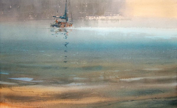 Through the quiet water