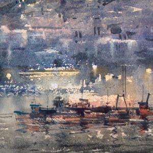 Light over the sleepy harbour