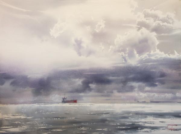 Shinning clouds, flickering sea
