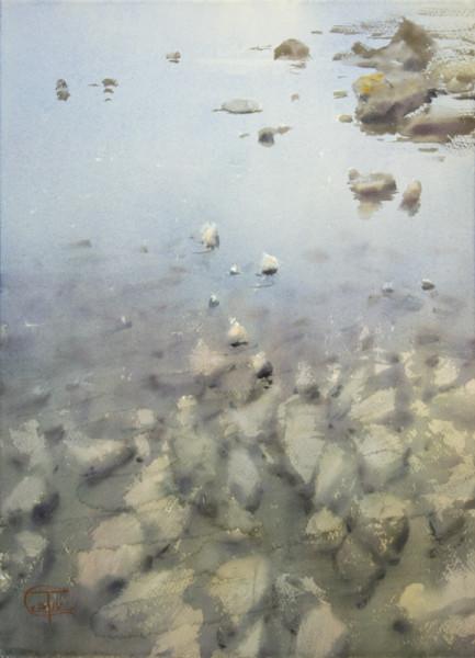 Asturias. Stones at low tide