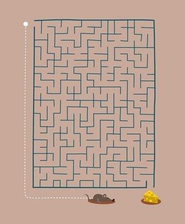 лабиринт, преодоление сложностей