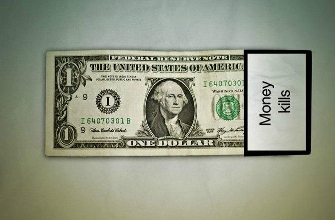 1 доллар, деньги, банкнота