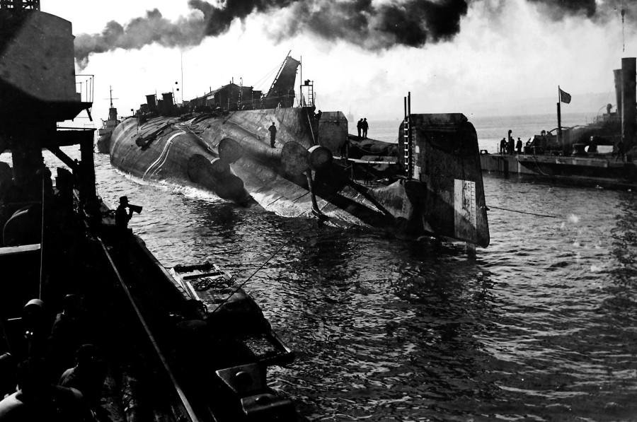 SMS Derfflinger capsized