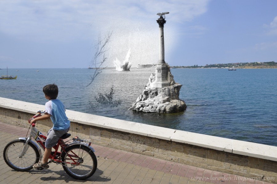 Севастополь 1941-2012 Памятник затопленным кораблям.
