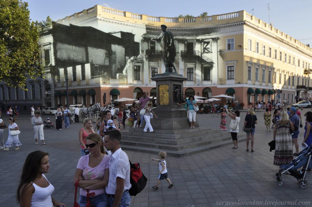 Одесса 1941/2012 Памятник Дюку де Ришелье