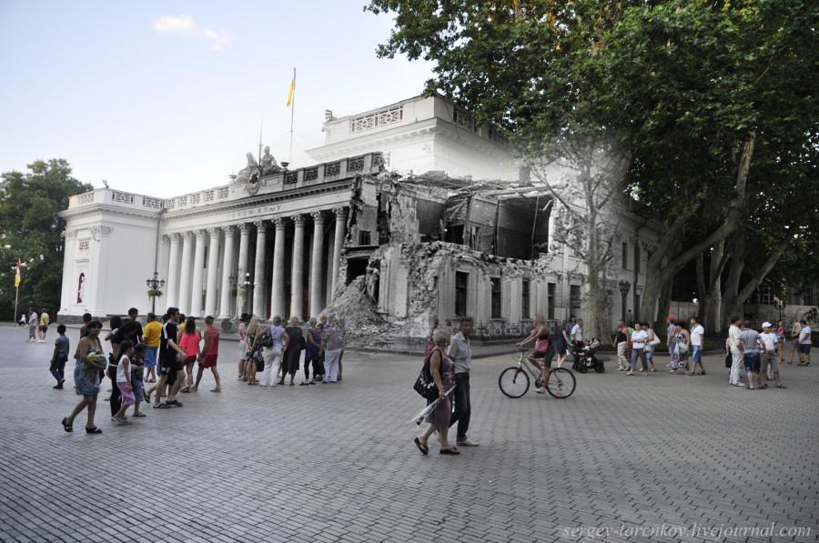 Одесса 1941/2012 Здание мэрии Одессы на Приморском бульваре.