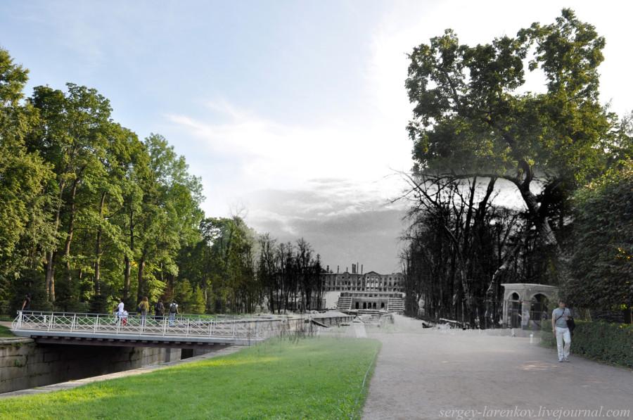 Петергоф 1943-2011 Нижний парк.