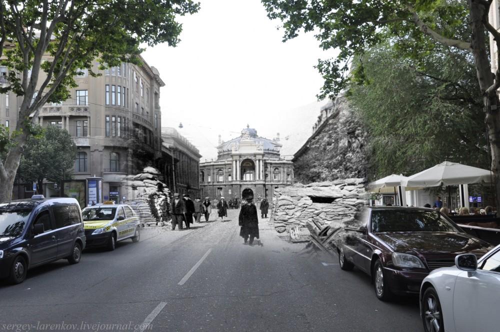 Одесса 1941/2012 Баррикады на Ришельевской.