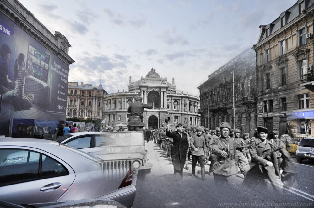 """Одесса 1944/2012 \\""""...Спокойные лиманы, зелёные каштаны ещё услышат шелест развернутых знамен...\\"""""""