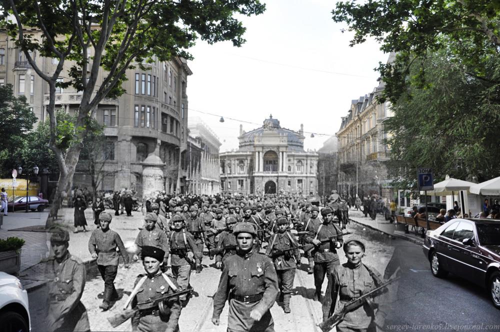 """Одесса 1944/2012 \\""""...Когда войдёт обратно походкою чеканной в красавицу Одессу усталый батальон...\\"""""""