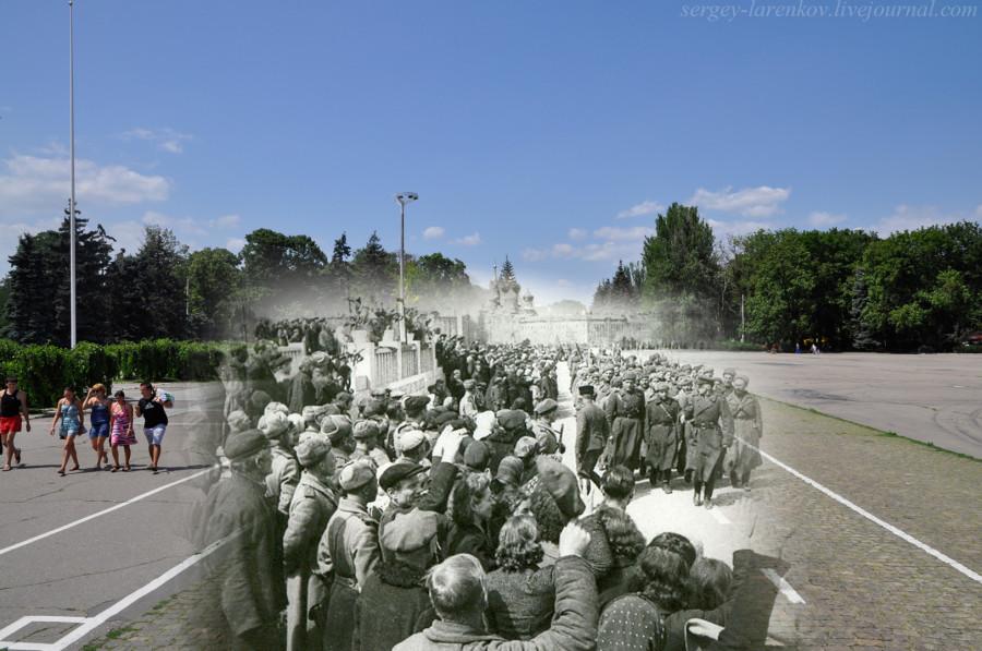 Одесса.1944-2012 Куликово поле. Парад освободителей.