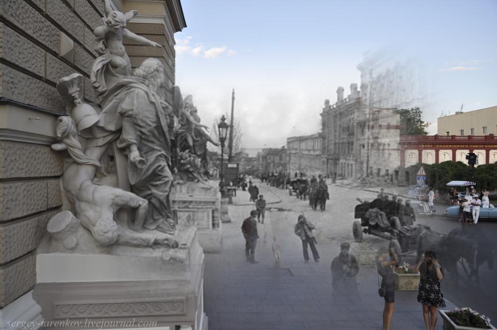 Одесса 1944/2012 Оперный театр. Красная армия входит в город.