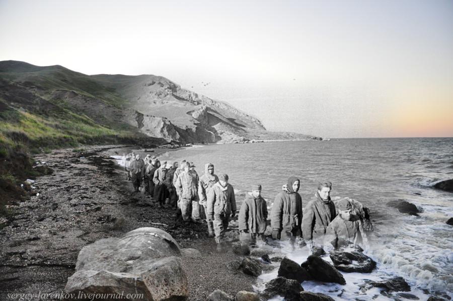Керчь 1943/2012 Пленые гитлеровцы.