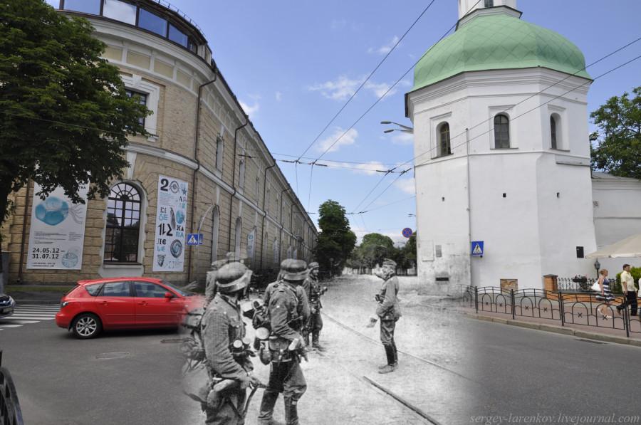 Киев 1941/2012 Башня Ивана Кущника и Арсенал