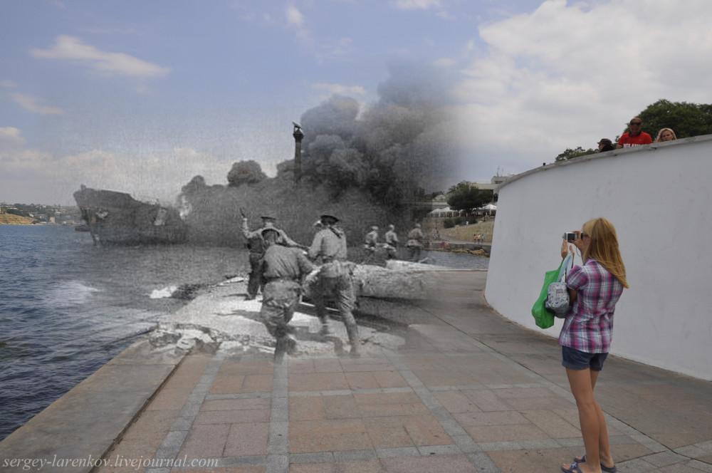 Севастополь 1944-2012 У памятника затопленным кораблям.
