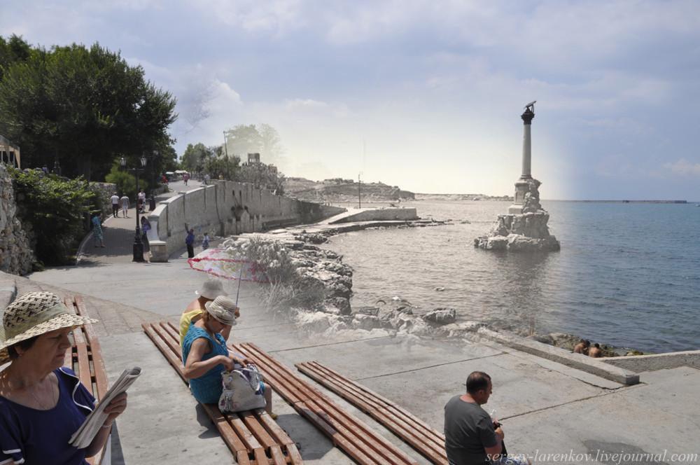 Севастополь 1942/2012 У памятника затопленным кораблям.