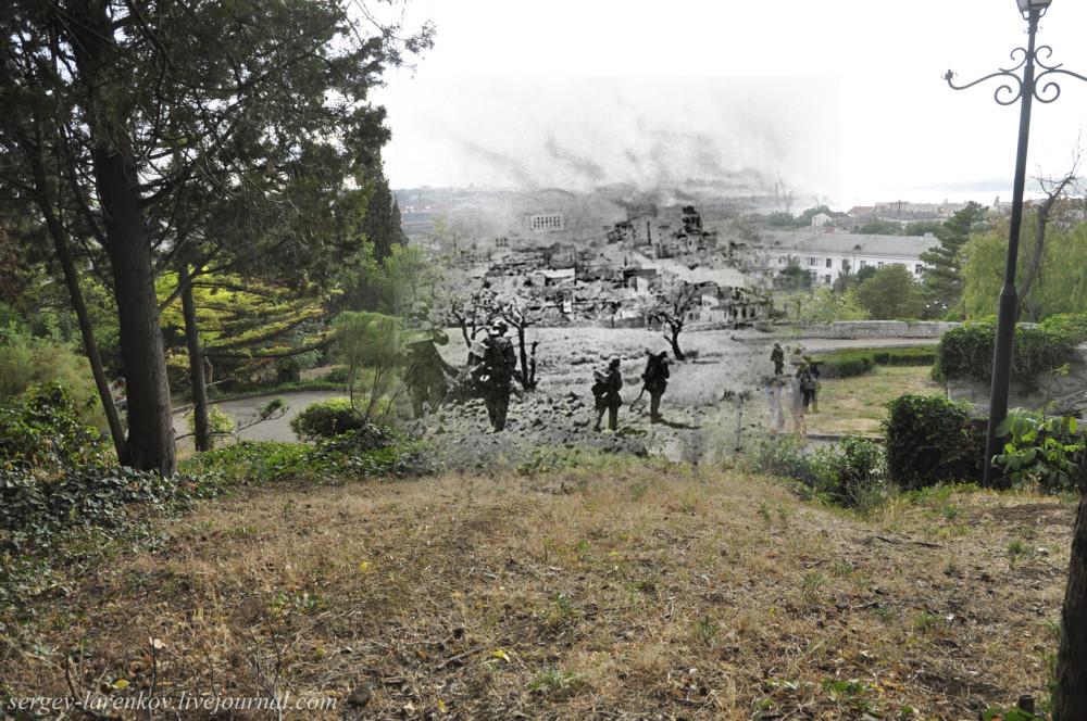 Севастополь 1942/2012 Немцкая пехота на Малаховом кургане.