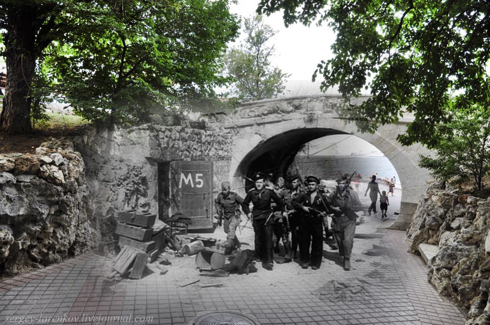 Севастополь 1944/2012 Драконий мостик. Советская морская пехота освобождают город от гитлеровцев