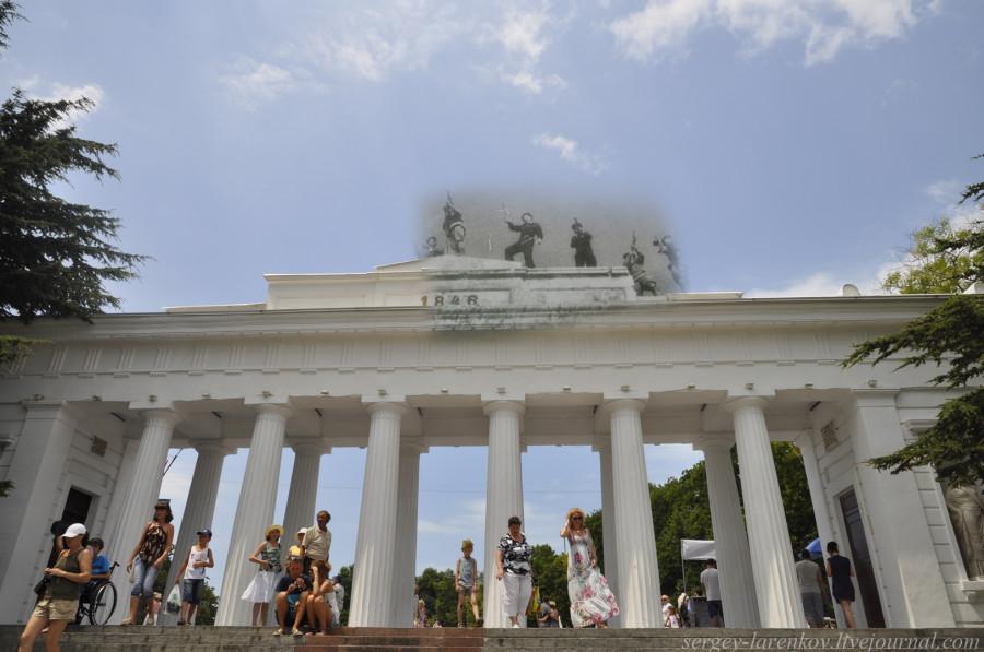 Севастополь 1944/2012 Водружение флага над Графской пристанью.
