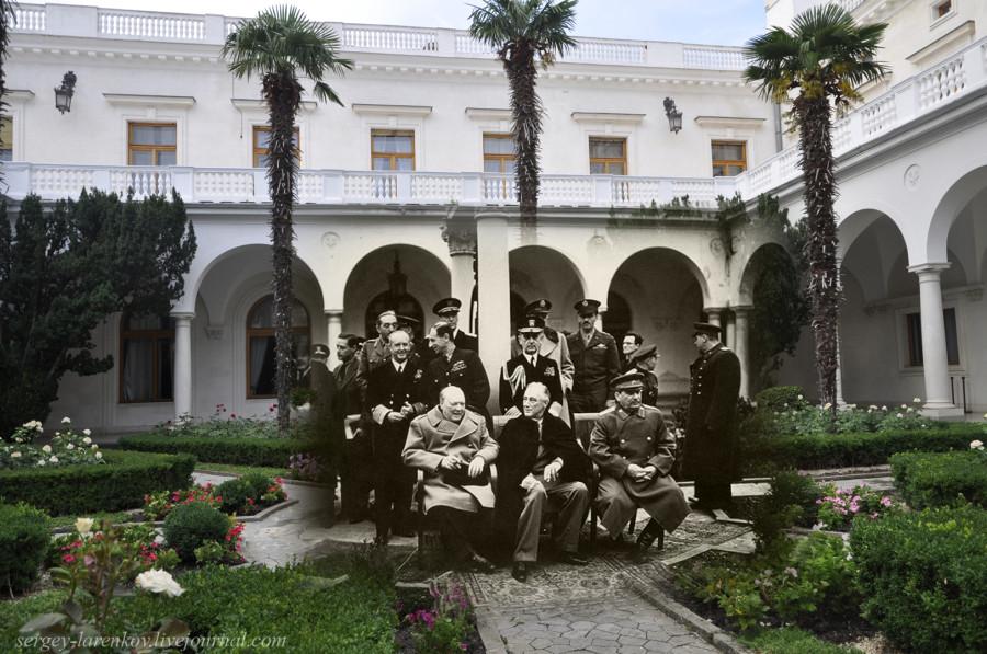 Ялта 1945-2012 Черчиль, Рузвельт и Сталин в Ливадийском дворце.