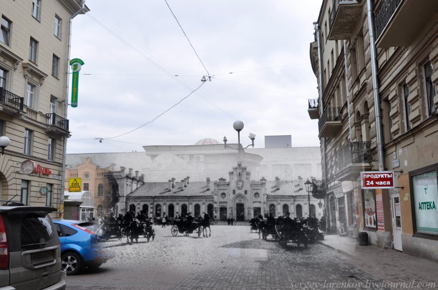 Санкт-Петербург 1900-2012 Вид на Финляндский вокзал с Финского переулка