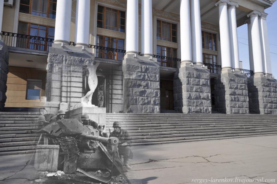11.Сталинград 1942-Волгоград 2013. Немецкое орудие у Музыкального театра
