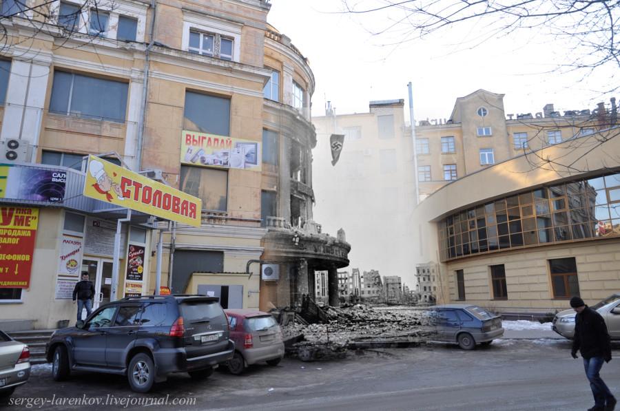 15.Сталинград 1942-Волгоград 2013. Универмаг с гитлеровским флагом