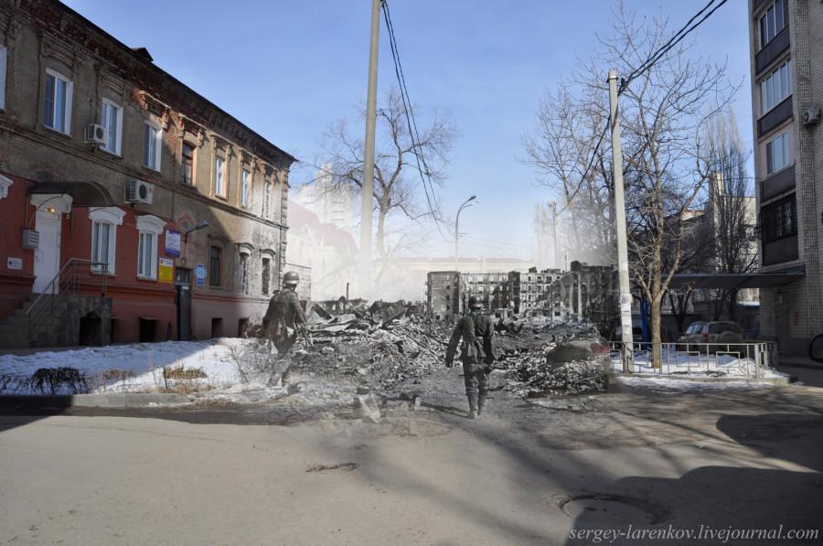 16.Сталинград 1942-Волгоград 2013. Солдаты вермахта на ул Порт СаидаSL