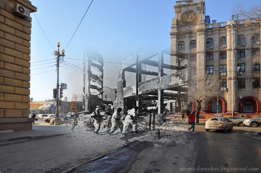 23.Сталинград 1943-Волгоград 2013. Бой у здания гостиницы