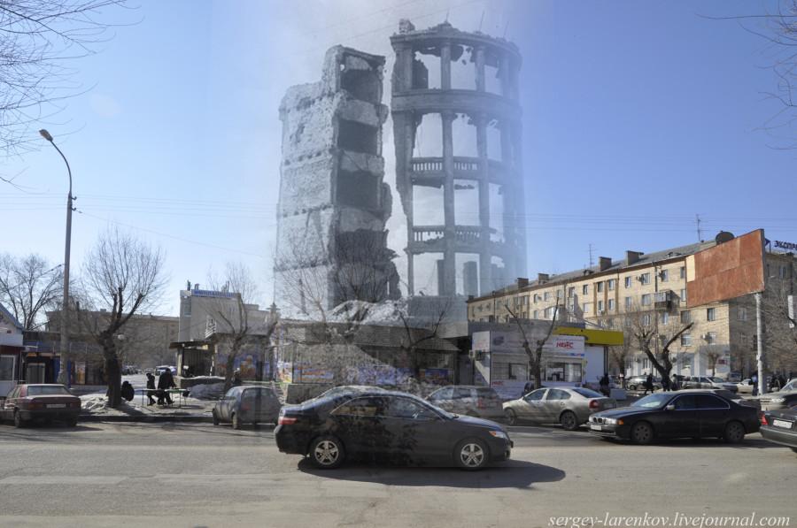 29. Сталинград 1943-Волгоград 2013. Руины дома коммунальщиков