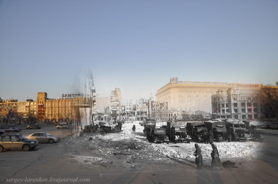 44.Сталинград 1943-Волгоград 2013. Площадь Павших Борцов после окончания боев