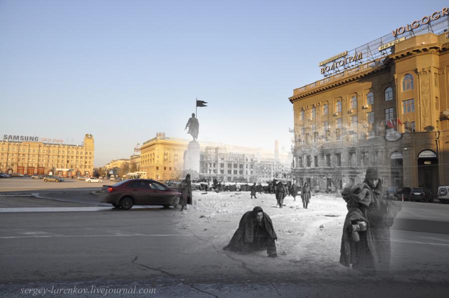 46.Сталинград 1943-Волгоград 2013. Площадь Павших борцов. Сдавшиеся гитлеровцы, уцелевшие после штурма