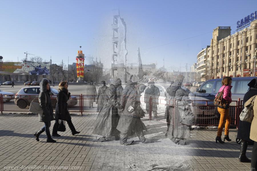 47.Сталинград 1943-Волгоград 2013. Пленные гитлеровцы на Площади павших бойцов