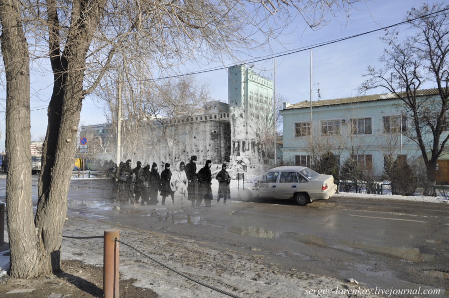 50.Сталинград 1943-Волгоград 2013.Пленные солдаты 6-й немецкой армии  у элеватора