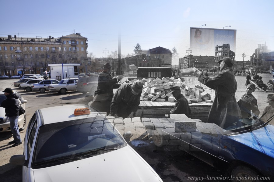 53.Сталинград 1943-Волгоград 2013.Пленные на разборке руин вокзала